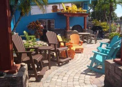 outdoor chairs in varius colors