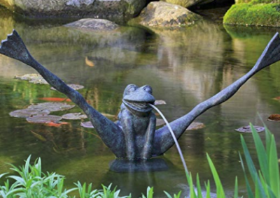 Aquascape Crazy Leg Frog Spitter Fountain