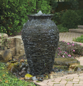 Aquascape Med Stacked Slate Urn Fountain