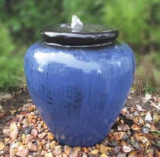 Tranquil Decor Blue Vase Fountain