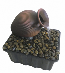 Tranquil Decor Tipped Vase Fountain