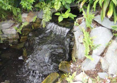 natural rock fountain