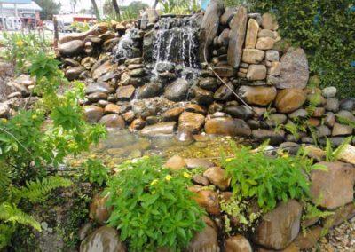 natural rock fountain/ waterfall