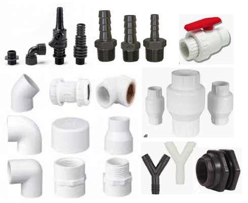Fittings for pond plumbing