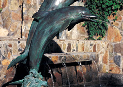 Large Double Dolphins Fountain